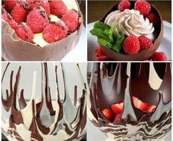 Čokoladna činija - brzo i lako.