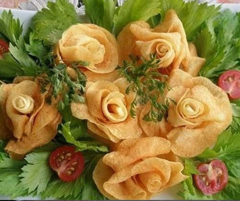Ruže od krompira.