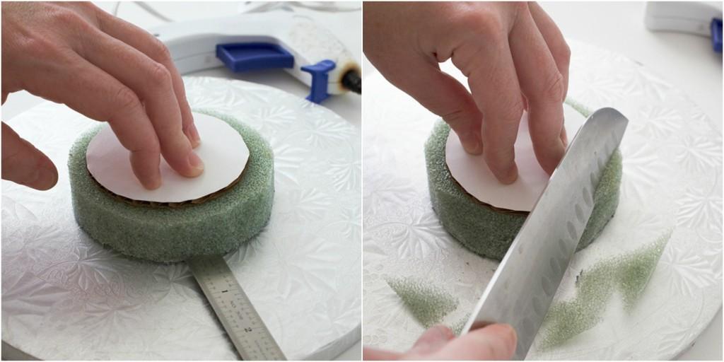 Centrirati i oblikovati stiropor i karton.