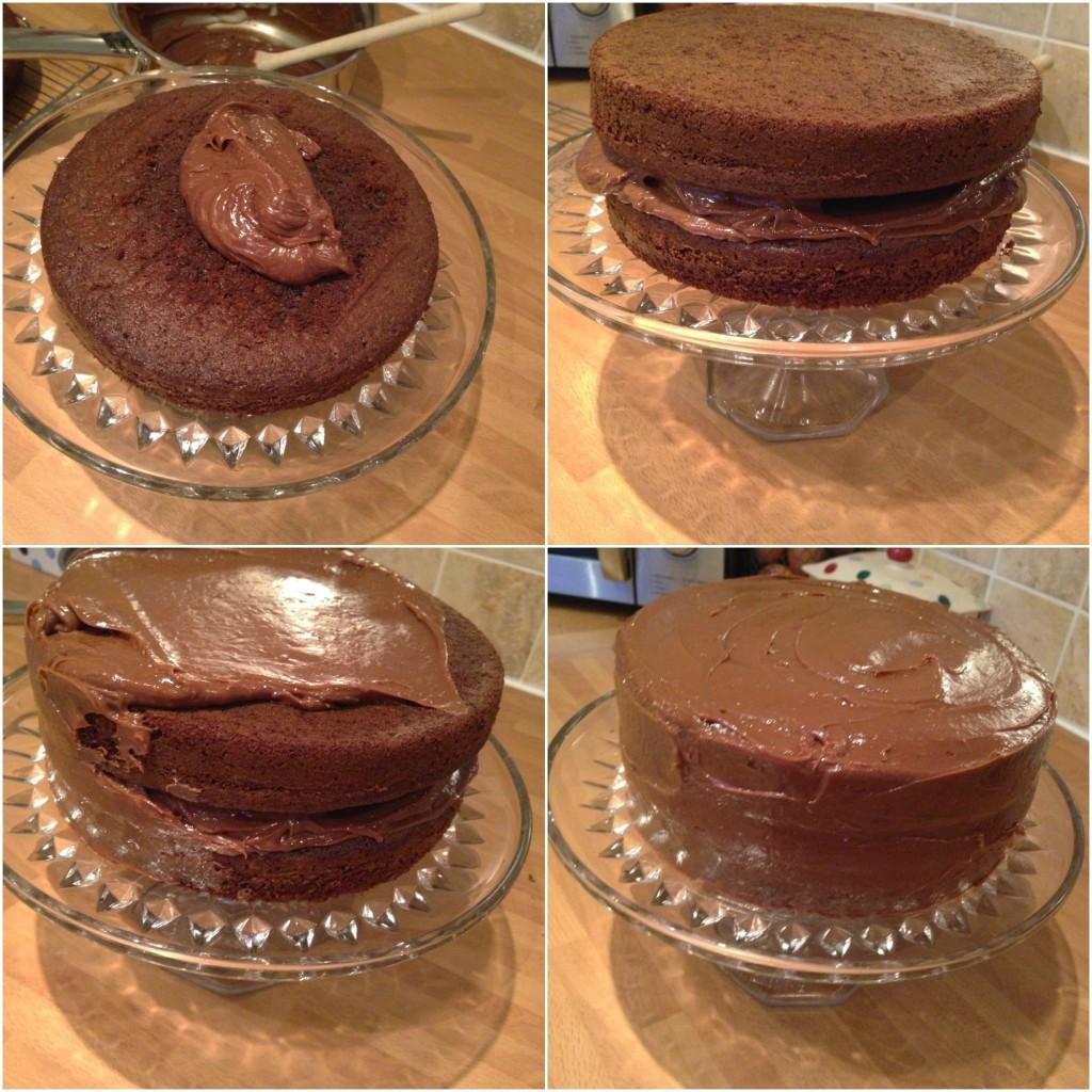 Torta čokoladni greh - filovanje