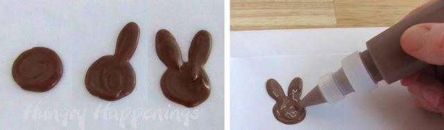 Čokoladni zečići - postupak izrade.