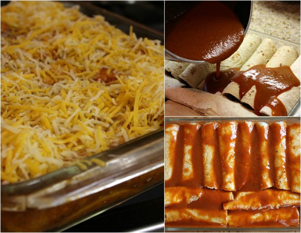 Zapečene tortilje sa junetinom i sirom - postupak izrade.