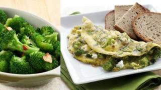 Omlet od jaja i brokolija - zdrava ishrana.