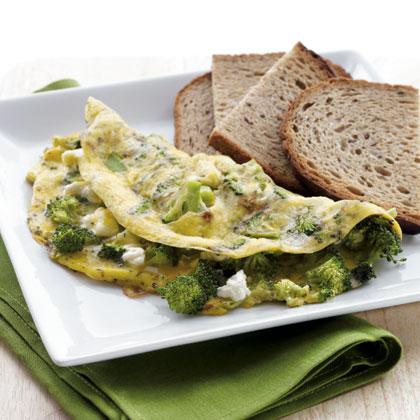 Omlet od jaja i brokolija.