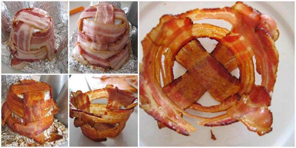 Čašice od slanine - postupak izrade.